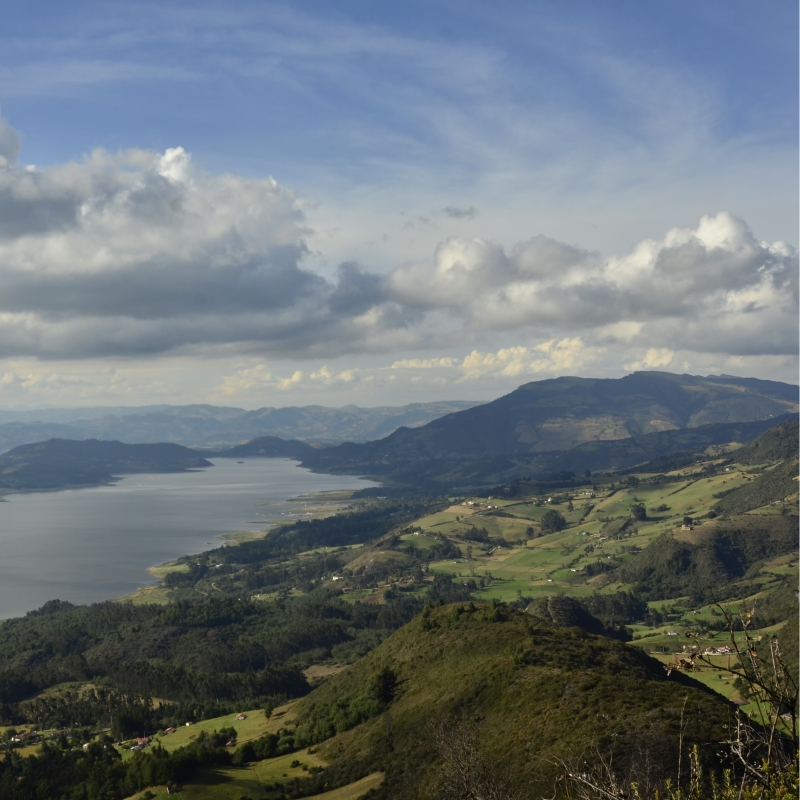 Cycling trip Guatavita Andes Colombia