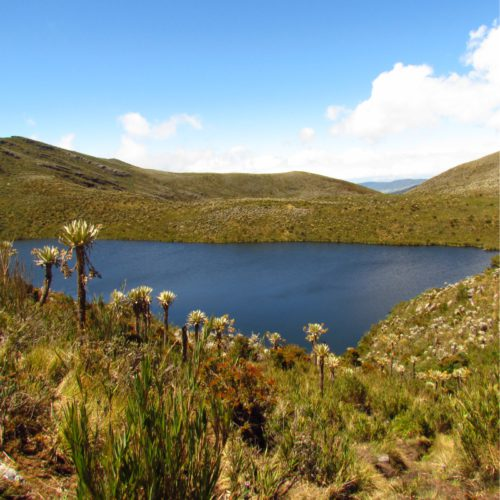 Cycling trip lakes andes Colombia